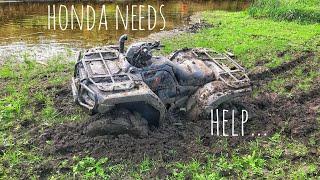 Honda Rubicon mudding HELP?!