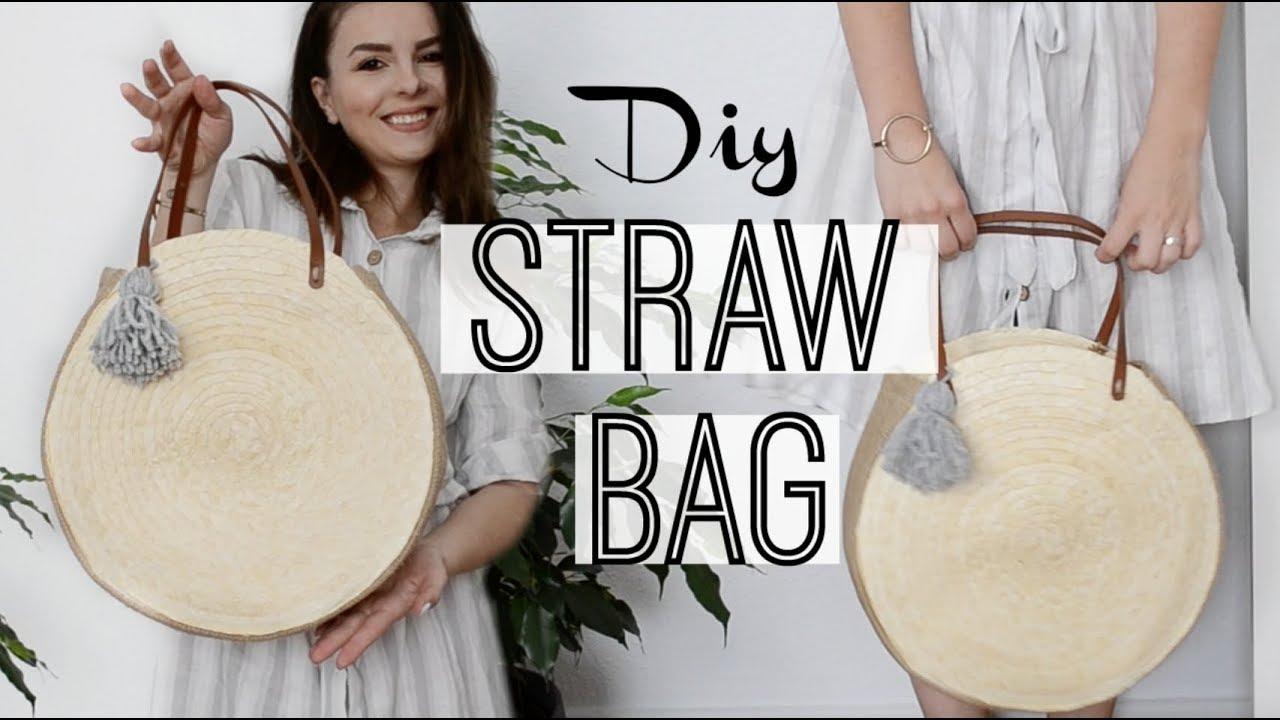 How To Make A Round Straw Bag Owlipop Diy Youtube