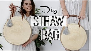 How to make a round straw bag | Owlipop DIY|