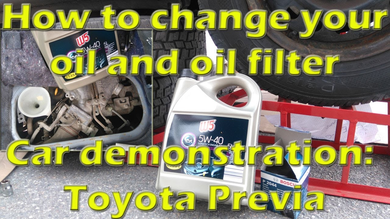 how to change your oil and oil filter car toyota previa youtube. Black Bedroom Furniture Sets. Home Design Ideas