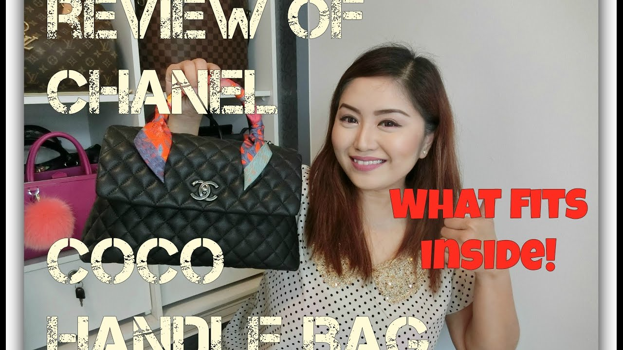 6819d97bd45b Review of Chanel Coco Handle Bag + What Fits Inside! - YouTube
