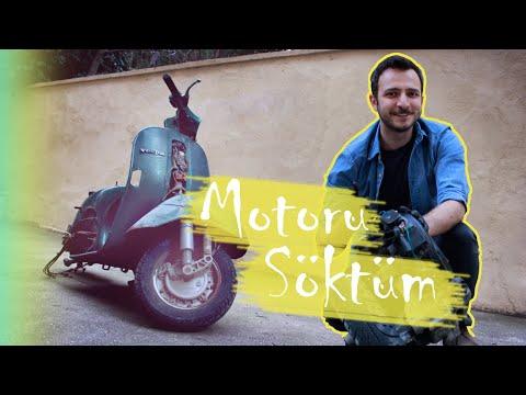 Vespa Elektrikli Motor Dönüşüm ve Yenileme Projem - Motoru Söktüm