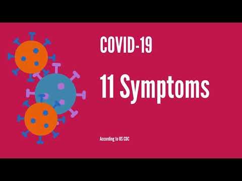 11 Symptoms of COVID 19 (Coronavirus disease) - Updated CDC guidance