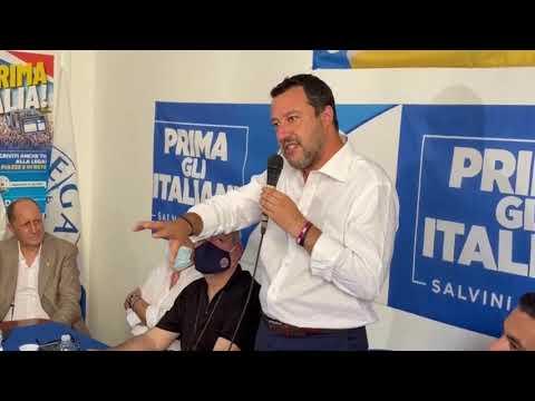 MATTEO SALVINI ALL' INAUGURAZIONE DELLA NUOVA SEDE DELLA ...