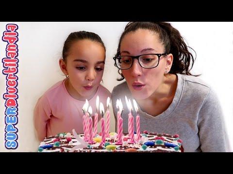 Cumpleaños!! Fiesta, tarta y juego con galletas. SUPERDivertilandia.