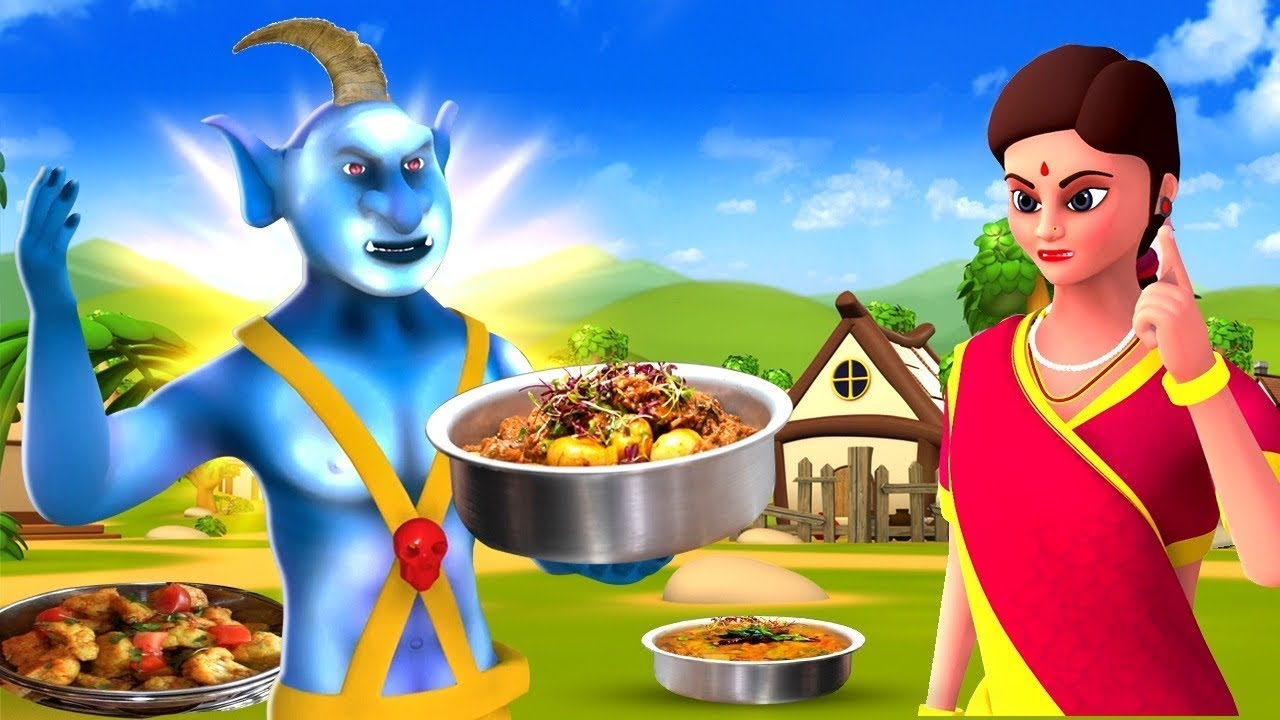 ఒంటి కొమ్ము రాక్షసుడు - Unicorn Devil Story   3D Animated Telugu Moral Stories   Maa Maa TV Telugu