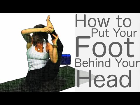 5 Minute Yoga Tutorial (How to put your foot behind your head) | Fightmaster Yoga Videos