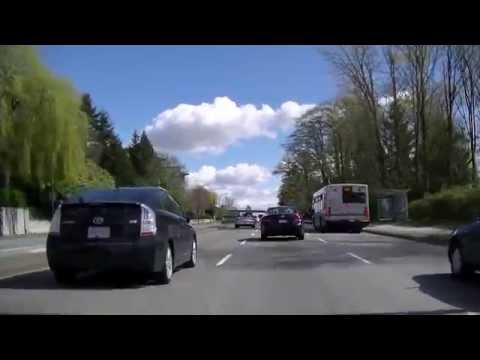 Vancouver Canada Driving - Marine Drive West to East - UBC travel - Beautiful Spring Sightseeing
