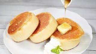 お店のふわふわパンケーキ【ホットケーキミックスで簡単♪】Fluffy thick pancake