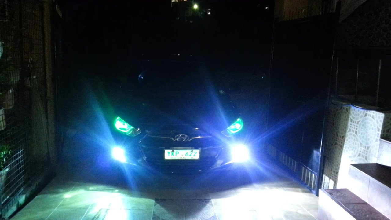 Hyundai Accent 2011 8000k Hid Fog Lights All Weather