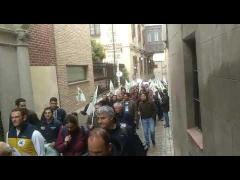 Agricultores piden la dimisión del consejero durante su manifestación en Toledo
