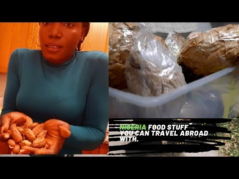 Travel abroad with Nigeria foodstuff: packaging, shipping and immigration.