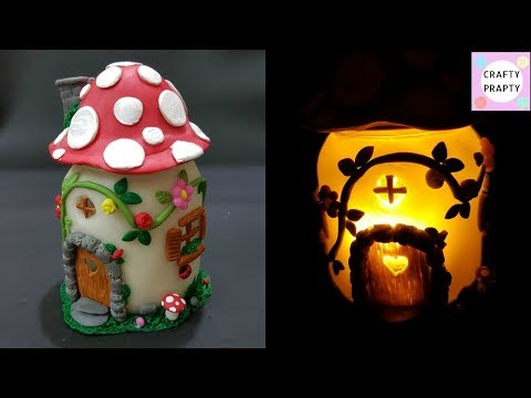 DIY Mushroom Fairy Jar/DIY Fairy Lantern/DIY Mushroom Light/Fairy garden/Fairy jar