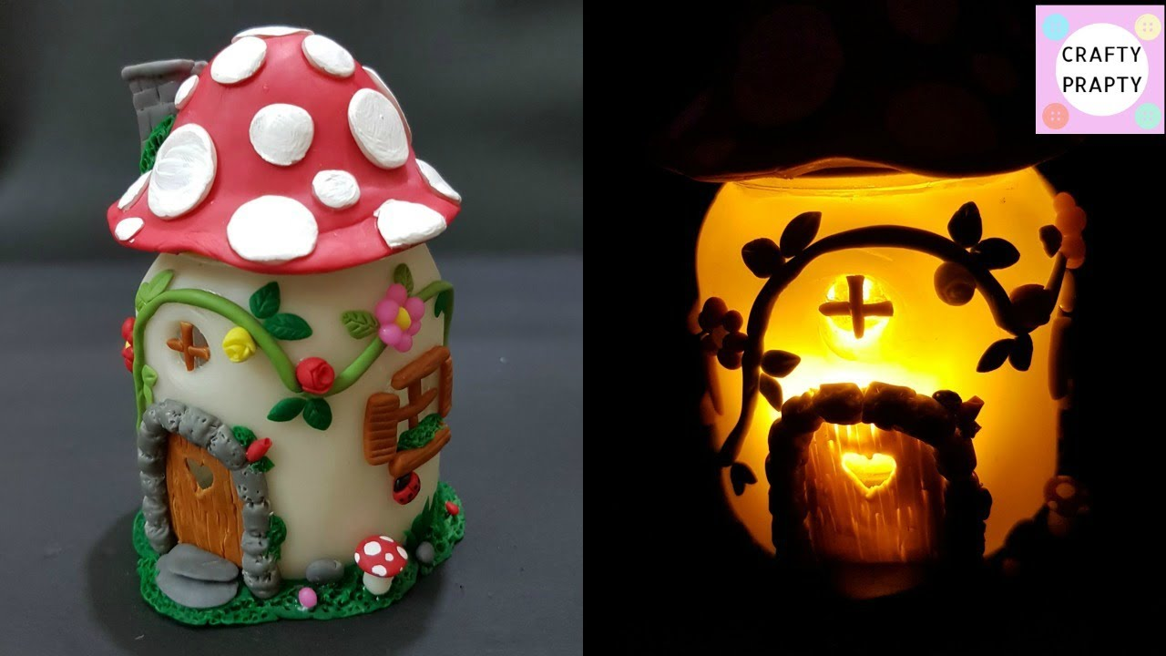 DIY Mushroom Fairy Jar/DIY Fairy Lantern/DIY Mushroom Light/Fairy Garden/ Fairy Jar