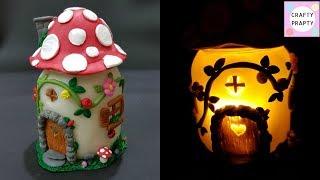DIY Mushroom Fairy Jar/DIY Fairy Lantern/DIY Mushroom Light/Fairy garden/Fairy jar