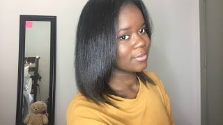 My Straight Hair Routine ( Natural Hair)(PRODUCTS USED: BioSilk Shampoo- http://www.ulta.com/ulta/browse/productDetail.jsp?productId=xlsImpprod6480336 BioSilk Conditioner- ..., 2015-10-17T17:45:22.000Z)