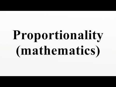 Proportionality (mathematics)