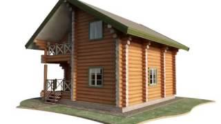Деревянный дом из оцилиндрованного бревна 8 х 8 м(, 2017-04-07T09:53:21.000Z)
