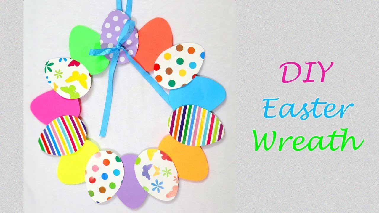 easter paper wreath diy decorations easy decor crafts