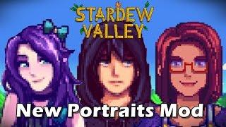 New Portraits Mod - Stardew Valley