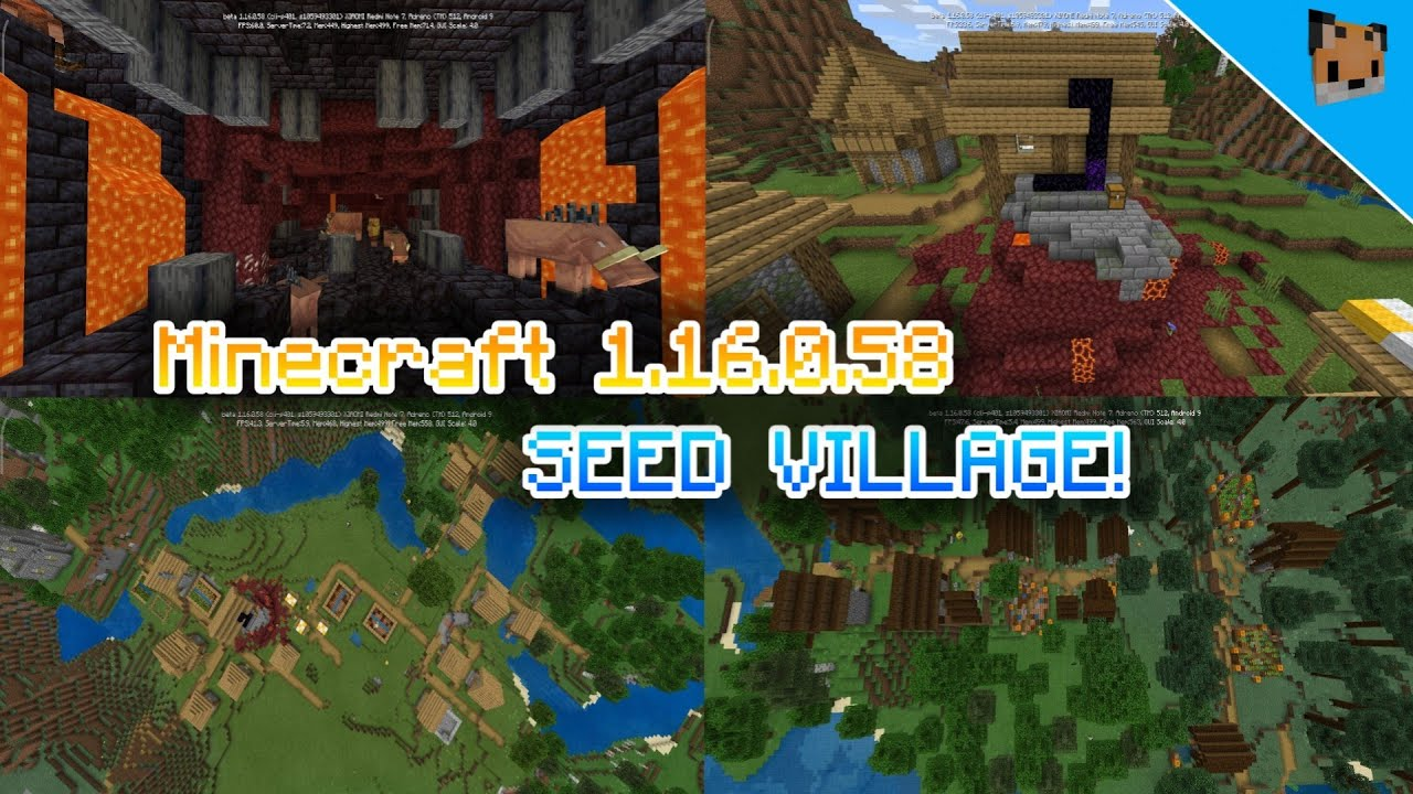 Minecraft Pe 1 16 Xbox New Seed Village Mcpe 1 16 Seed Portal Bedrock Youtube