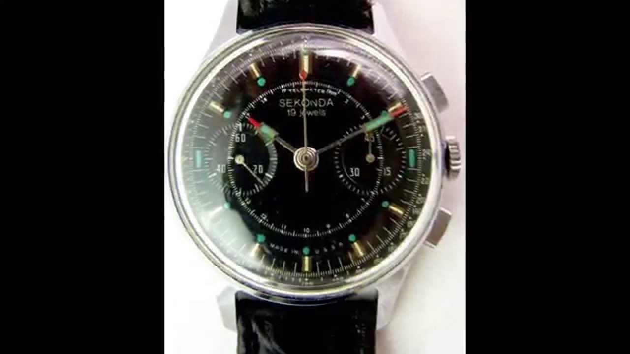 6b84ef80b33a Soviet Vintage Poljot Sekonda STRELA 3017 Russian Military Chronograph Watch