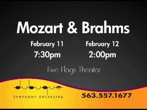 DSO Presents Mozart & Brahms on Feb. 11 - 12, 2012