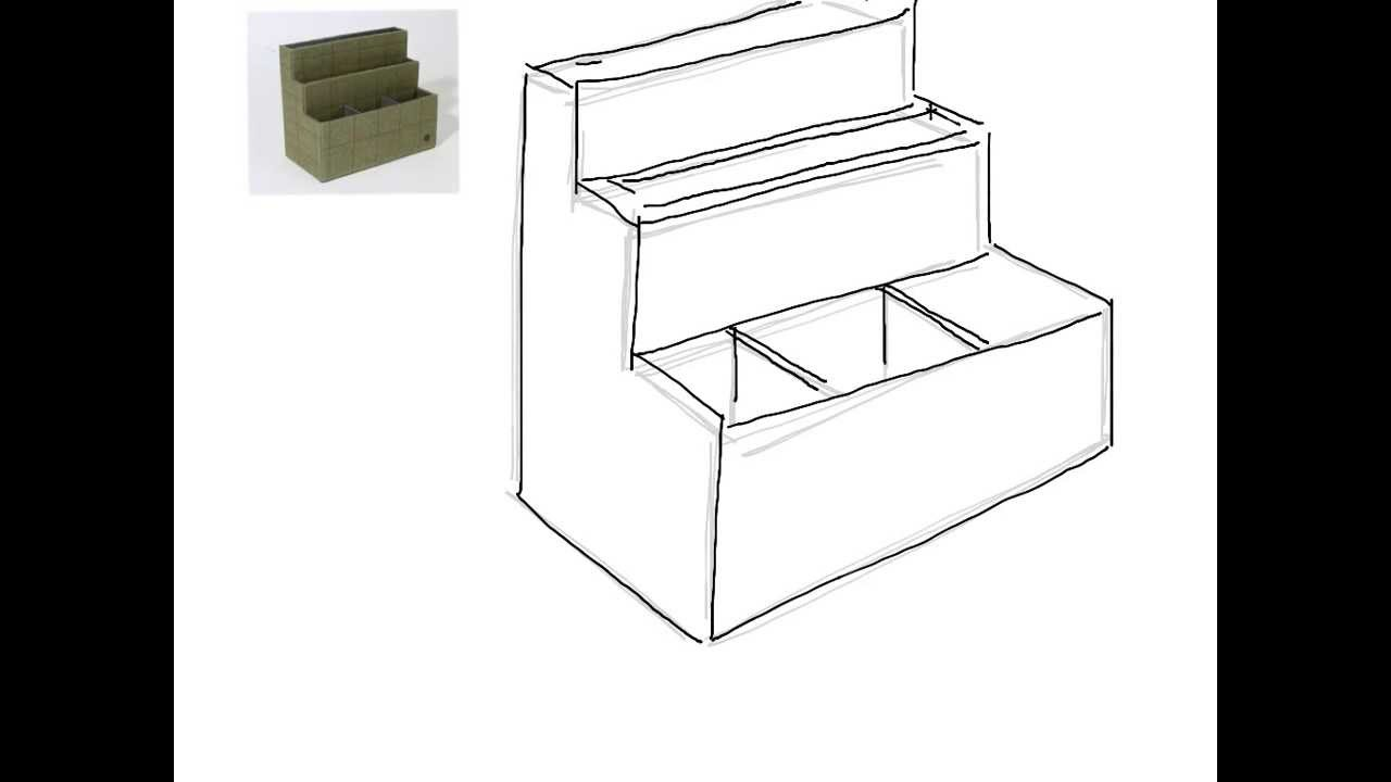 Desk Tidy Drawing Youtube