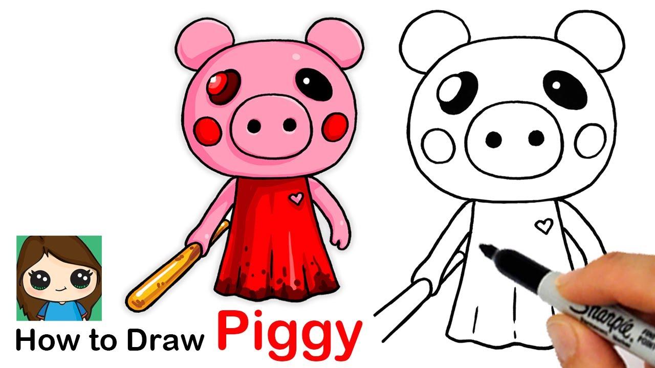 Piggy Kawaii Roblox Angel How To Draw Roblox Angel Piggy Youtube