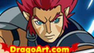 How to Draw Lion-O, Lion-O, ThunderCats, Step by Step