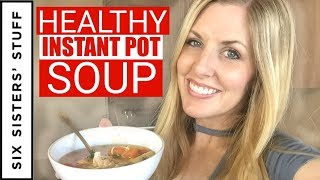 Instant Pot Healthy Chicken and Potato Soup  (or Slow Cooker) Meal Prep Monday