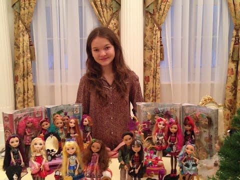 Моя коллекция кукол Эвер Афтер Хай. My collection dolls Ever After High. Gulnas Gulnaz.