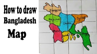How to draw bangladesh map.Step by step(easy draw)