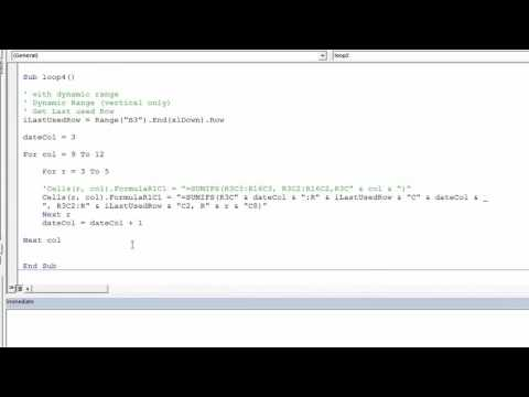 Excel VBA SUMIFS with Dynamic Range - YouTube