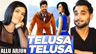 TELUSA TELUSA   ALLU ARJUN   Sarrainodu   Telugu Songs   Full Video Song REACTION!