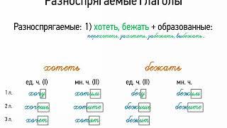 Разноспрягаемые глаголы (7 класс, видеоурок-презентация)
