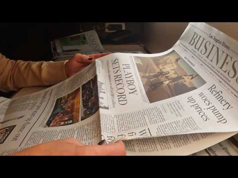ASMR-LA Times Sleepy Sunday paper time! - Silent- no speakin