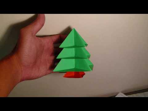 origami modular christmas tree instructions - YouTube
