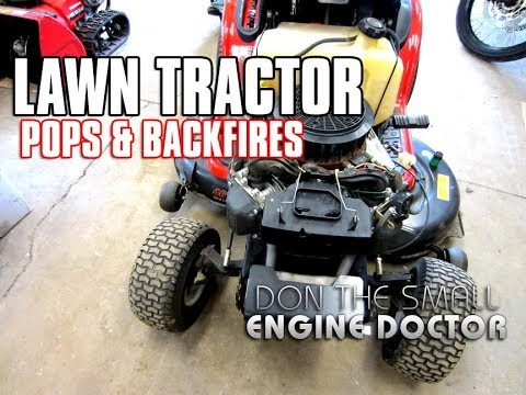 Fixing A Lawn Tractor That Pops & Backfires! - YouTube