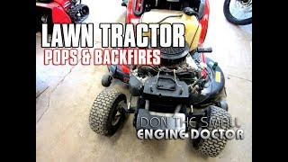 Fixing A Lawn Tractor That Pops & Backfires! MP3