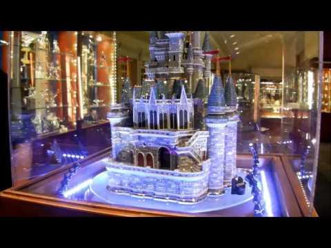 Beautiful Swarovski Cinderella Castle At Arribas Bros