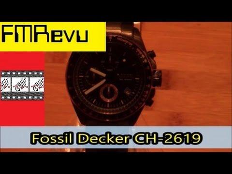 Fossil Decker CH-2619 | Men's Fashion Watch Review