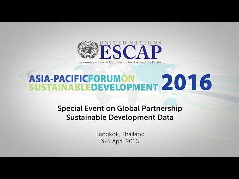 APFSD 2016: Special Event on Global Partnership on Sustainable Development Data