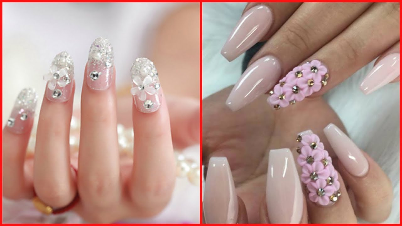 Simple And Beautiful Rhinestone Nail Art Designs