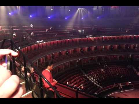 Royal albert hall view from circle youtube for Door 4 royal albert hall