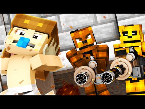 Minecraft - WHO'S YOUR DADDY? - FNAF BABIES GO TO PRISON !? (Minecraft Cops N Robbers) W/ Ryguyrocky