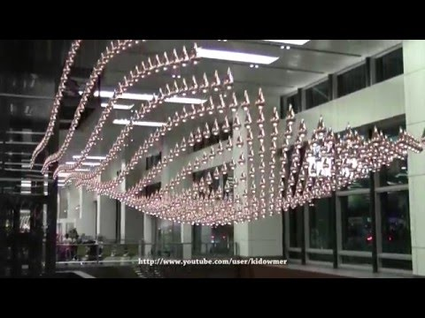 Kinetic Rain Sculpture(full display) Singapore - World's Lar