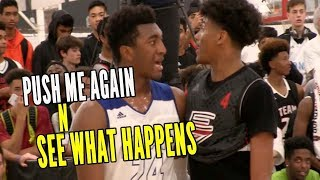 Kyree Walker & Jalen Green PUSH ME ONE MORE TIME AND SEE WHAT HAPPENS!!