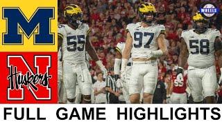 #9 Michigan vs Nebraska Highlights   College Football Week 6   2021 College Football Highlights