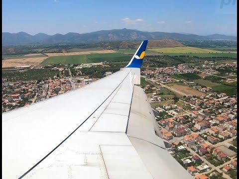 Заход на посадку в Даламане Boeing 737-800/ Landing At The Airport Of Dalaman